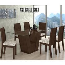 Conjunto de Mesa com 6 Cadeiras Lopas - Fiorella