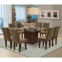 Conjunto de Mesa com 8 Cadeiras Movale - Vegas