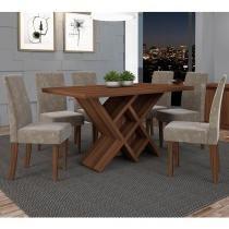 Conjunto de Mesa Duomo com 6 Cadeiras - Dj Móveis