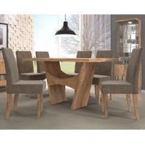 Conjunto de Mesa Luna com 4 cadeiras - Dj Móveis
