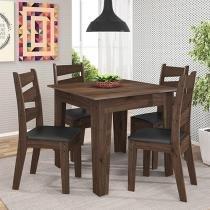 Conjunto de Mesa Madeira com 4 Cadeiras - Celta Móveis Isis