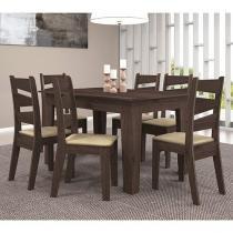 Conjunto de Mesa Madeira com 6 Cadeiras - Celta Móveis Isis