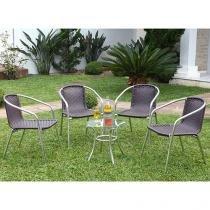 Conjunto de Mesa para Jardim/Área Externa Alumínio - com 4 Cadeiras Alegro Móveis ACJMC119