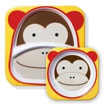 Conjunto de Pratos Zoo Macaco Marrom - Skip Hop - Skip Hop