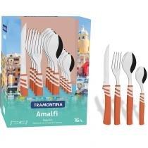 Conjunto de Talheres Amalfi 16 Peças Aço Inox 23499471 - Tramontina - Tramontina