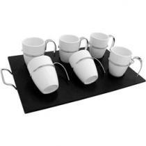 Conjunto de Xícaras Café em Cerâmica 7 Peças - Bon Gourmet 1199