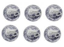 Conjunto de Xícaras em Cerâmica 12 Peças - Biona Cerâmica Cena Inglesa