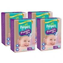 Conjunto Fralda Pampers Premium Care Pacotão XG - 4 Pacotes com 16 Unidades Cada