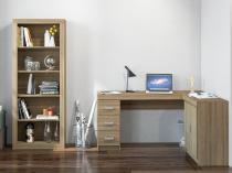 Conjunto Itapeva 2 Portas 3 Gavetas Politorno - com Mesa para Computador/Escrivaninha e Estante