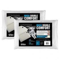 Conjunto Travesseiro Espuma Viscoelástica 2 Peças - Fibrasca NASA Double Comfort