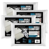 Conjunto Travesseiro Espuma Viscoelástica 4 Peças - Fibrasca NASA Double Comfort