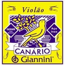 Corda De Aço Para Violão Canário Com Chenilha GESW1 1ª Corda Giannini - Giannini