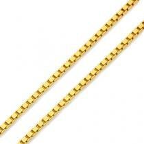 Corrente em Ouro 18k Veneziana de 0,5mm com 45cm co02612 Joiasgold