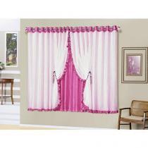 Cortina para Quarto Pink A Criativa - Romântica 2,00x1,70m