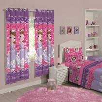 Cortina para Quarto Pink Santista - Disney Sofia Dream 2,00x1,80m