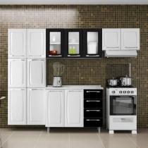 Cozinha Compacta Itatiaia Criativa com Balcão - 13 Portas 4 Gavetas Aço