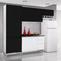 Cozinha Compacta Itatiaia Stilo com Balcão - 9 Portas 3 Gavetas Aço