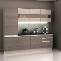 Cozinha Compacta Madesa Glamy com Balcão 7 Portas - 3 Gavetas