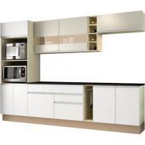 Cozinha Compacta Madesa Glamy Top Vicenza - com Balcão Nicho para Forno e Micro-ondas 9 Portas
