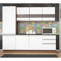 Cozinha Compacta Madine Móveis City Vancouver - com Balcão 7 Portas 3 Gavetas
