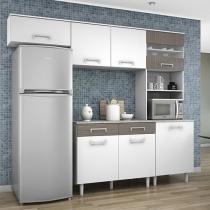 Cozinha Compacta Madine Móveis Lorena - Nicho para Forno ou Micro-ondas 5 Portas