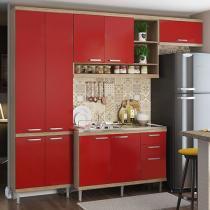 Cozinha Compacta Multimóveis Sicilia - 9 Portas 3 Gavetas
