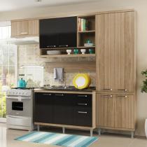 Cozinha Compacta Multimóveis Sicilia com Balcão - 9 Portas 3 Gavetas