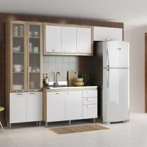 Cozinha Compacta Multimóveis Toscana 10 Portas - 3 Gavetas