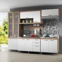 Cozinha Compacta Multimóveis Toscana com Balcão - 11 Portas 3 Gavetas