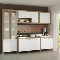 Cozinha Compacta Multimóveis Toscana com Balcão - 12 Portas 3 Gavetas