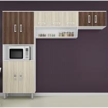 Cozinha Compacta Poliman Móveis Franciele - 8 Portas