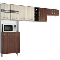 Cozinha Compacta Poliman Móveis Livia - 9 Portas