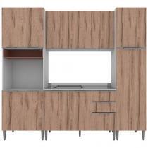 Cozinha Completa Líder Casa Aroma com Balcão - 11 Portas 3 Gavetas