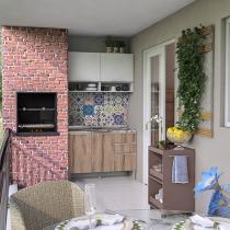 Cozinha Completa Líder Casa Aroma com Balcão - 4 Portas 3 Gavetas