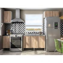 Cozinha Completa Líder Casa Aroma com Balcão - 6 Portas