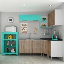 Cozinha Completa Líder Casa Aroma com Balcão - 8 Portas 3 Gavetas