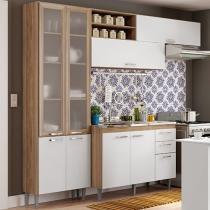 Cozinha Completa Multimóveis Toscana - 5055.132.131.815 com Balcão 8 Portas 3 Gavetas