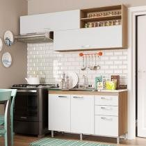 Cozinha Completa Multimóveis Toscana - 5058.132.131 com Balcão 4 Portas 3 Gavetas