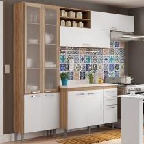Cozinha Completa Multimóveis Toscana - 5059.132.131.815.600 com Balcão 8 Portas 3 Gavetas