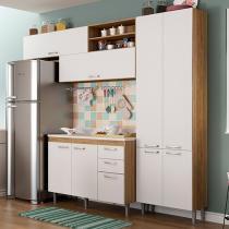 Cozinha Completa Multimóveis Toscana - 5060.132.131.600 com Balcão 8 Portas 3 Gavetas