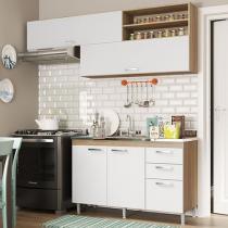 Cozinha Completa Multimóveis Toscana - com Balcão + Pia de Cozinha Inox