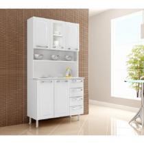 Cozinha Criativa com 5 Portas e 4 Gavetas I31V-C Branco - Itatiaia - Itatiaia