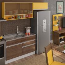Cozinha Glamy Carol Branco/Western Teka/Amarelo - Madesa - Branco - Madesa