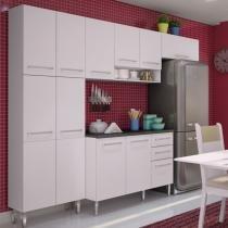 Cozinha Glamy Elis Jasmin Branco/Branco BR - Madesa - Branco - Madesa