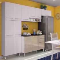 Cozinha Glamy Elis Jasmin Branco/Tirol/Branco - Madesa - Branco - Madesa