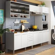 Cozinha Glamy Elis Orquídea Branco/Branco BR - Madesa - Branco - Madesa