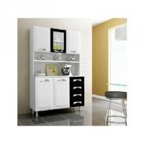 Cozinha Premium 120cm I31VG4-D Branco/Preto - Itatiaia - Itatiaia