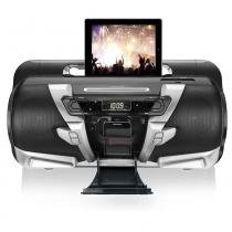 Dock Station Multilaser Super Boombox SP159 com MP3 CD Player Entrada USB Ent - SP159 - Neutro - Multilaser