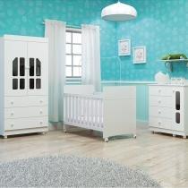 Dormitório Completo Katatau Branco Brilho - Reller - Reller