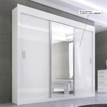 Dune Premium Glass 3 portas - Branco/Preto/Branco - Panan
